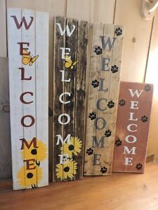 "Vertical 36"" and 42"" WELCOME SiGNS FOR SALE"