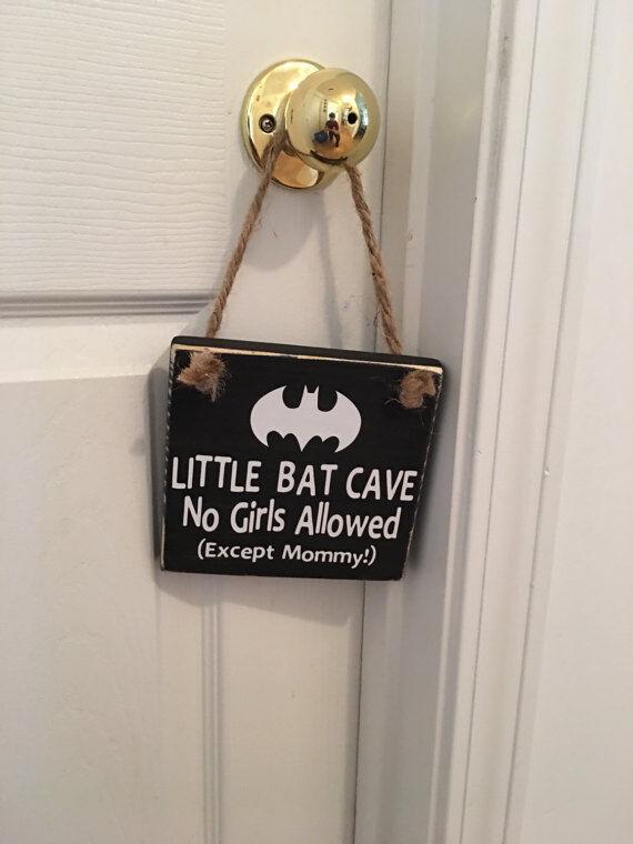 Little Bat Cave Wooden Nursery Boy