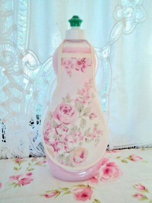 Bottle Apron (Ashwell Pink Rose Shabby French Country Chic Soap Lotion Bottle Apron fits 25)