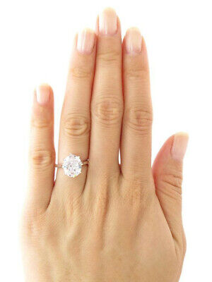 Ring 3.00ct Oval Cut Moissanite Solitaire Bridal Engagement