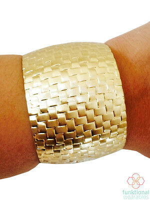 Fitbit Flex 2 Fitness Activity Tracker Bracelet - SUE Gold Cuff.  Lightweight!