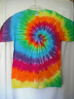 Tie dye classic spiral T shirt Adult sizes S through 4XL and 5XL