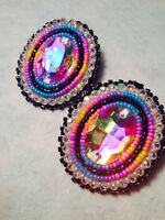 Learn to Bead Cabochon Earrings