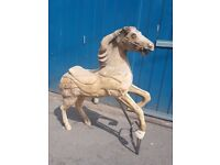 Early 20th Century Antique Wooden Continental Carousel Horse. Vintage/Fairground/Salvage
