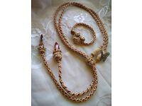 Handmade set necklace bracelet Sahara new