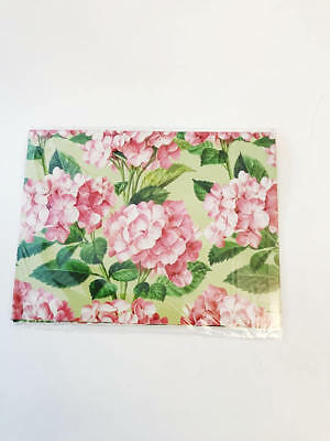 Pink Hydrangeas Gift Wrap Paper American Greetings Pink Floral All - Occasion Gift Wrap