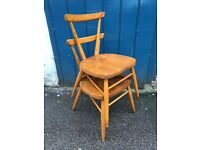 Pair of 1960s Child's Stacking Chairs by Ercol. Vintage/Retro/Mid Century
