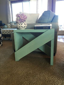Rustic Sea Foam Green End Table *Brand New*