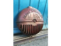 Original 1930s Cast Iron Globe Sprinklers Fire Alarm Cover from Newark New Jersey! Americana/Salvage