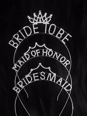 Bachelorette Rhinestone Bride to Be Brides Maid Maid of Honor Tiara -