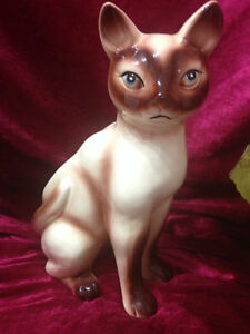Siamese Cat Planter by Gift Craft, Japan Kingston Kingston Area image 1