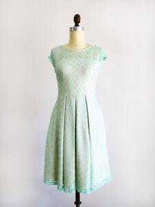 Mint green lace dress - great for bridesmaid dress, wedding, etc