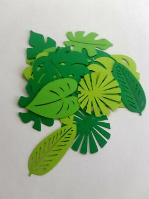 Jungle Themed Cutouts (Variety of Leaves Die Cut Outs ( Jungle Themed Party Decor, Party Decor)