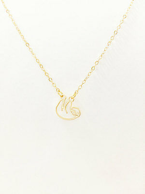 Cute Three Toed Sloth Pendant Necklace
