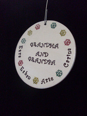 - Grandparents Personalized Family Snowflake Ornament with Family Names HANDMADE