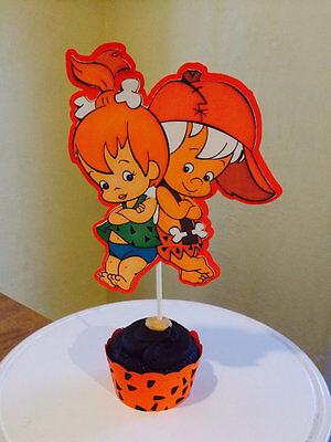 Pebbles Flintstone & Bam Bam Rubble Cake Toppers - Flintstone Bam Bam