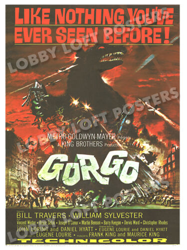 GORGO LOBBY CARD POSTER OS 1961 BILL TRAVERS WILLIAM SYLVESTER VINCENT WINTER