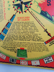 ANTIQUE Fortune Teller Wishing Wheel Game Buckleys 1933 West Island Greater Montréal image 3