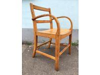 Rare 1950s RAF Air Ministry Bentwood Oak Elbow/Arm/Desk Chair. Vintage/Retro/Mid Century