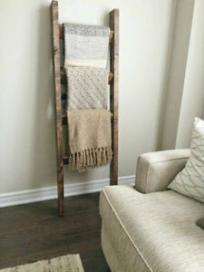**Bestseller** Rustic wood blanket ladder || Housewarming gift
