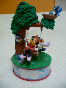 Mickey Mouse collectible plate and music box