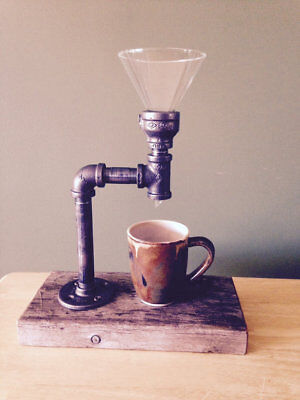 Vintage Coffee Maker Made From Pipe Fittings + Glass Funnel + 100...