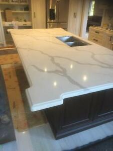 Quartz~Granite Counter top starts from $38/sqft, we carry all stone colors, give us a call today!