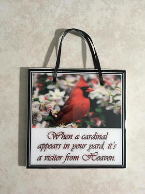 Cardinal Heaven Quote Sympathy Sign Memory Plaque Memorial