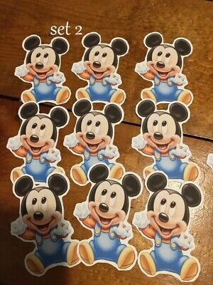 Mickey Mouse Cutouts (6 Mickey Mouse Baby Shower Party Favor)