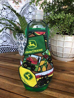 Tractor John Deere Farm Country Kitchen Dish Soap Bottle Apron - fits 25 oz.