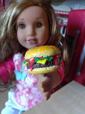 """18"""" Doll Food Cheese Burger fits American Girl Dolls, Our Generation Toys 5+"""