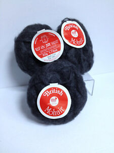 3 Skein Bundle British Mohair-Wool from England