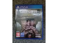 AS NEW Call of Duty WWII Ps4