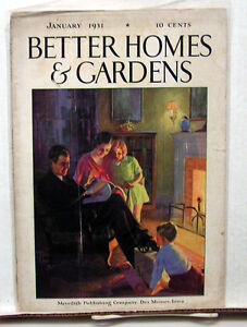 Jan 1931 Better Homes Gardens Vintage Magazine Great Ads