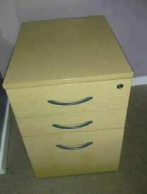 Wooden filing cabinet