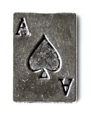 Ace of Spades Lapel Pin - Tie Tack - Gift Idea - Handmade - Gift Box