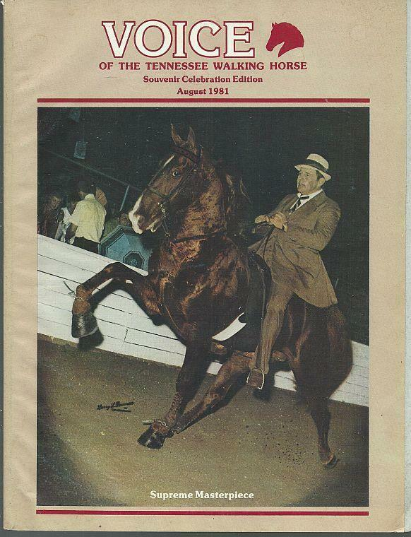 Voice of Tennessee Walking Horse Magazine August 1981 Souvenir Celebration Ed