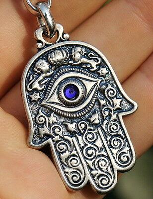 Hamsa Hand Keychain Jewish Symbols Charm Amulet, Kabbalah & Evil Eye (Jewish Protection)