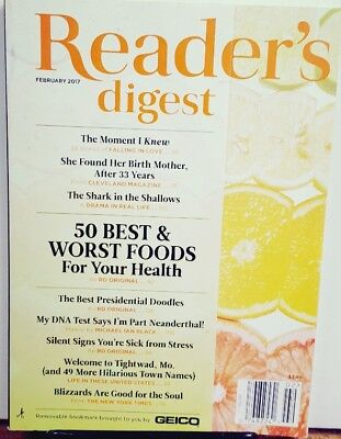 Reader's Digest February 2017 50 Best & Worst Foods FREE SHIPPING (50 Best Literary Magazines)
