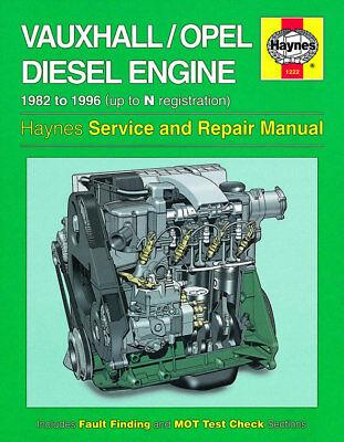 1222 Vauxhall Opel Diesel Engine 1982 - 1996 Haynes Service and Repair Manual