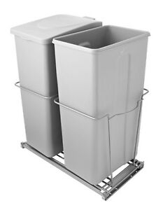 Double Pull-Out Bins, 15-L