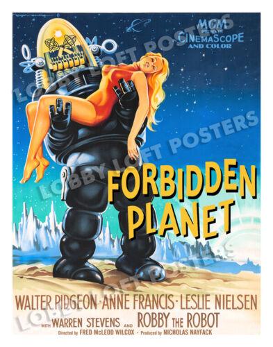 FORBIDDEN PLANET LOBBY CARD POSTER OS/FR 1956 LESLIE NIELSEN ANNE FRANCIS ROBBY