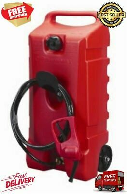 Flo N Go Duramax 14 Gallon Wheeled Siphoned Pump Gravity Fed Fuel Caddy Red New