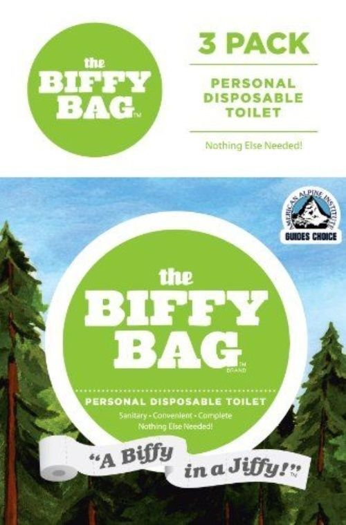 Biffy Bag Pocket Size Disposable Toilet Classic Pack of 3 for sale ... 08fe0cdb1d0b6