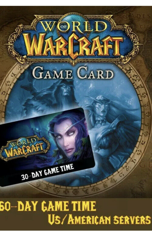 World of Warcraft Wow 60 Days Game Time Code - Americas & Oceania