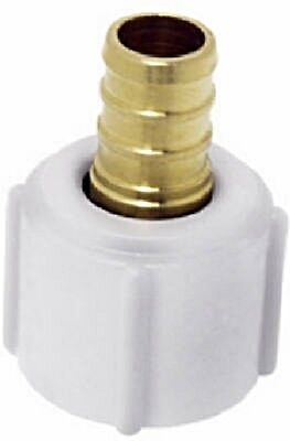 """1/2"""" crimp x 1/2"""" FPT Swivel Adapter for a faucet"""