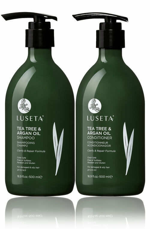 LUSETA TEA TREE & ARGAN OIL SHAMPOO AND CONDITIONER FOR OILY