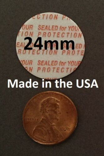 24mm Press & Seal Cap Liners - 24 mm Foam Safety Tamper Seals USA Made 50-1000