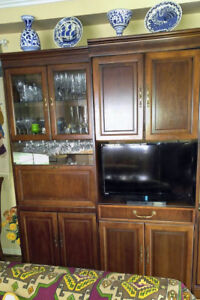 Classic Wall Units (2) in Cherry Wood
