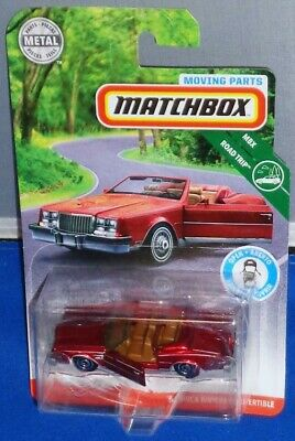 2019 Matchbox ~ MOVING PARTS ~ MBX Road Trip ~ '83 Buick Riviera Convertible Red